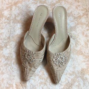 Anne Klein pointed toe kitten heels